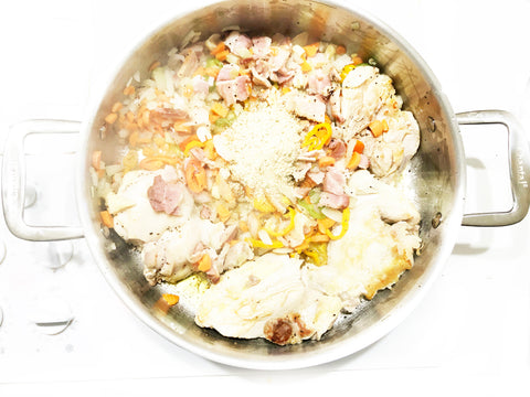add in breadcrumbs to cassoulet recipe in 5 at 3 clad polished sauteuse