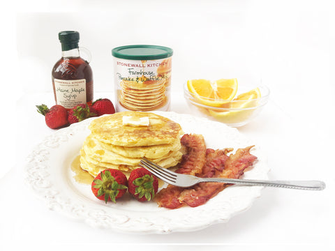 stonewall farmhouse pancakes on nonstick coated griddle