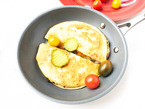 final cheeseburger quesadillas in 10 inch coated induction 21 fry pan