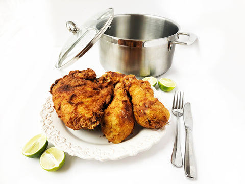 induction 21 stainless steel 6 quart stock pot for frying chicken