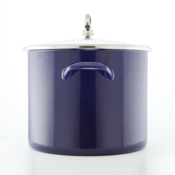 Enamel-on-Steel Covered Stockpot (8 Qt.)