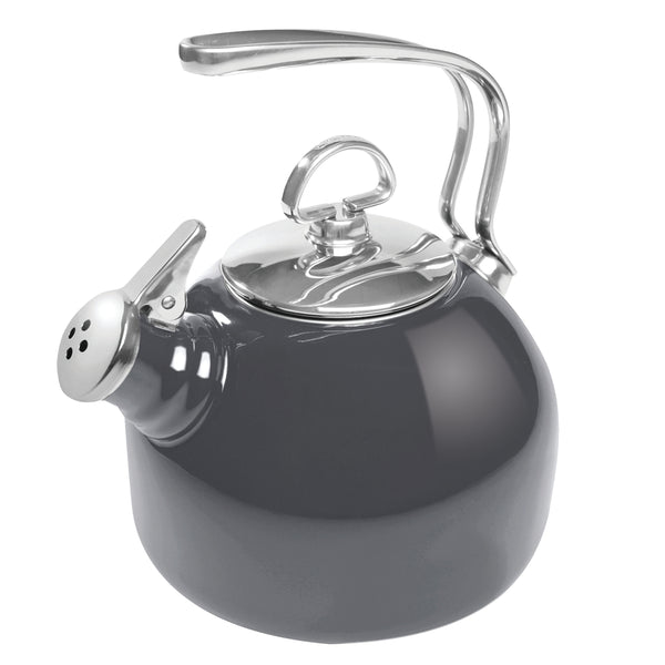 Enamel-on-Steel Classic Teakettle 1.8 Quarts in gray