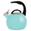 Enamel-on-Steel Anniversary Teakettle Collection 2 Quart in turquoise