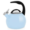 Enamel-on-Steel Anniversary Teakettle Collection 2 Quart in light blue