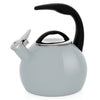 Enamel-on-Steel Anniversary Teakettle Collection 2 Quart in gray