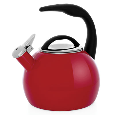 Enamel-on-Steel Anniversary Teakettle Collection 2 Quart in red
