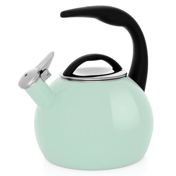 Enamel-on-Steel Anniversary Teakettle Collection 2 Quart in light green