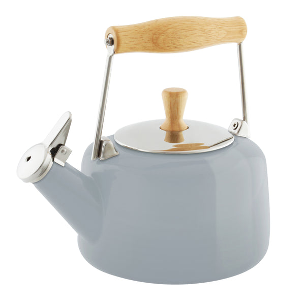 Enamel-on-Steel Sven Teakettle 1.4 Quarts in gray