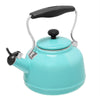 Enamel-on-Steel Vintage Teakettle Collection 1.7 Quarts in aqua blue