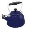 Enamel-on-Steel Vintage Teakettle Collection 1.7 Quarts in colbalt blue