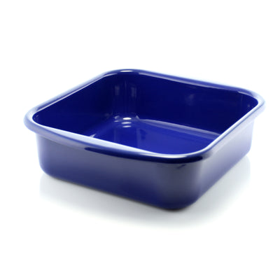 blue enamel bakeware square oven dish 8 inch