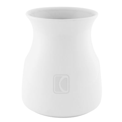 hourglass shaped utensil crock white
