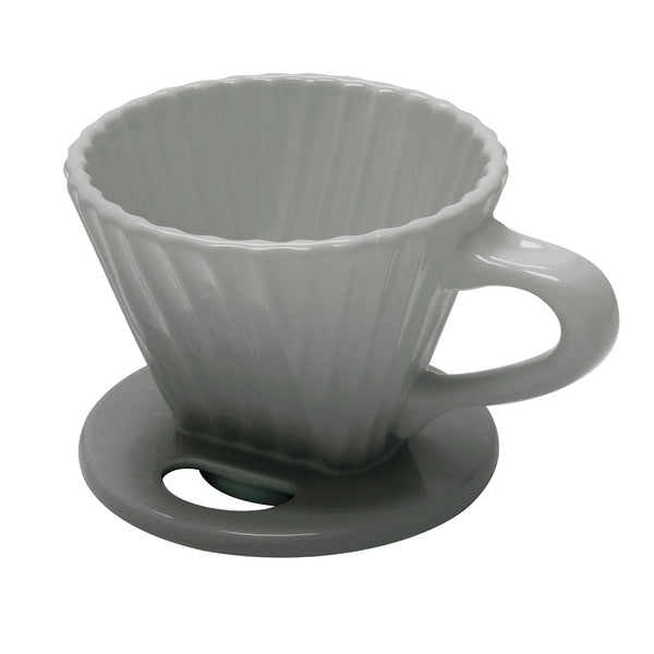 ceramic filter lotus flower design in fade grey