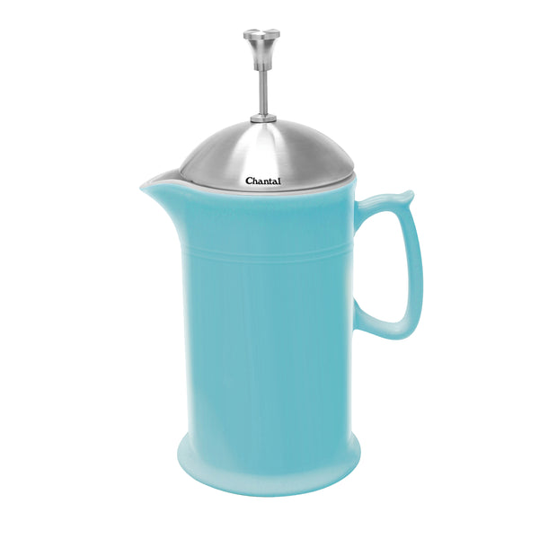aqua ceramic french press with stainless steel plunger