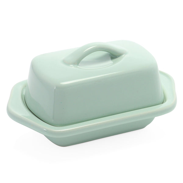 Mini Butter Dish in mint