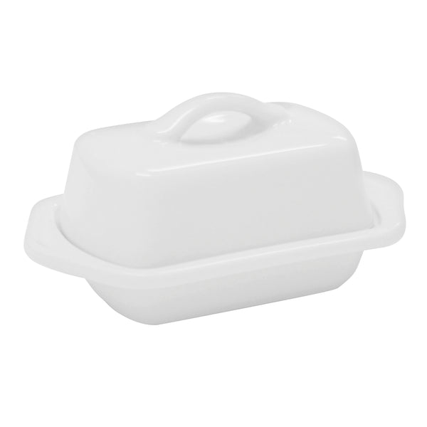 Mini Butter Dish in white