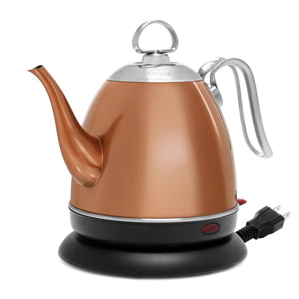 copper finish mia electric water kettle