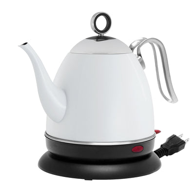 millie electric water kettle matte white finish