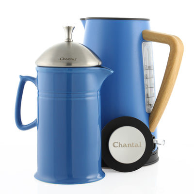 Oslo Ekettle and French Press Coffee Set blue