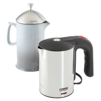 easy french press set colbie electric kettle with fade grey french press and stainless steel colibie electric kettle