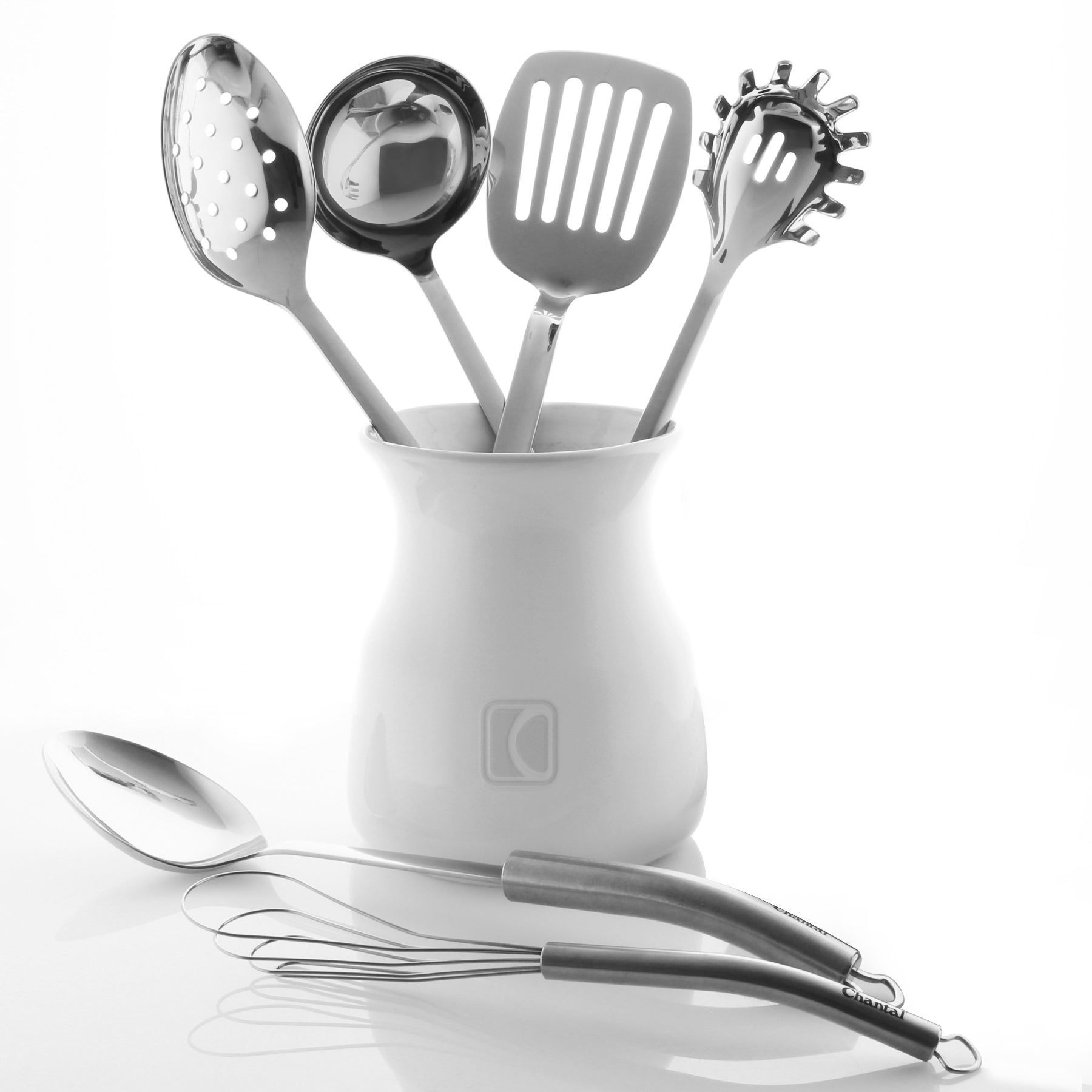 utensil crock and all 6 kitchen tools