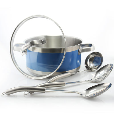 stripes by chantal stockpot and tool set utensils
