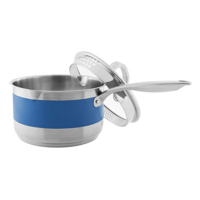 stripes by chantal 2.5 quart pouring saucepan