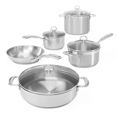 induction 21 steel 9 piece cookware set