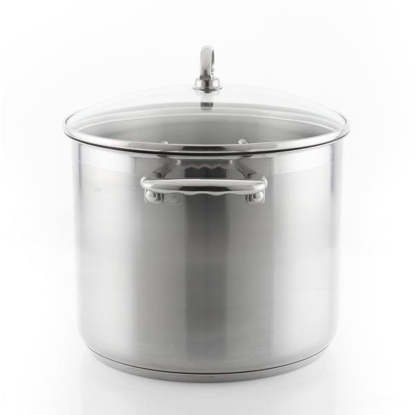 Induction 21 Steel Stockpot with Lid (12 Qt.)