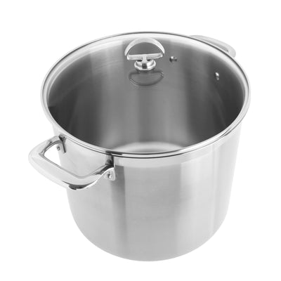 Induction 21 Steel Stockpot with Lid 12 Quarts