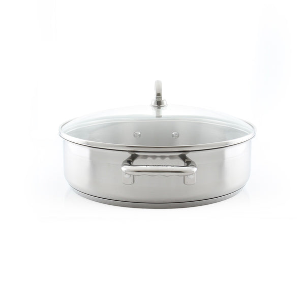 Induction 21 Steel Sauteuse with Lid (5 Qt.)