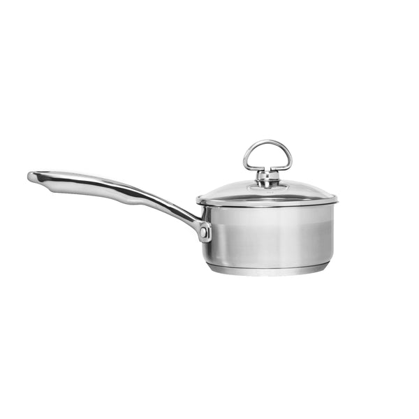 Spinning image of 1 qt induction 21 stainless steel saucepan