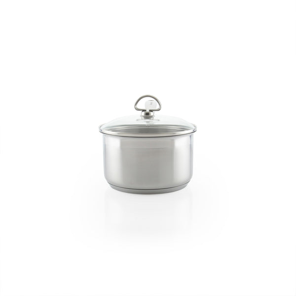 Induction 21 Steel Saucepan with Lid (2 Qt.)