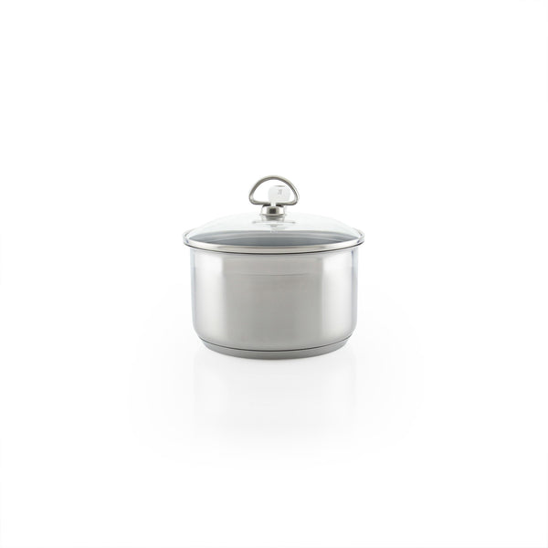 Induction 21 Steel Ceramic Coated Saucepan with Lid (2 Qt.)