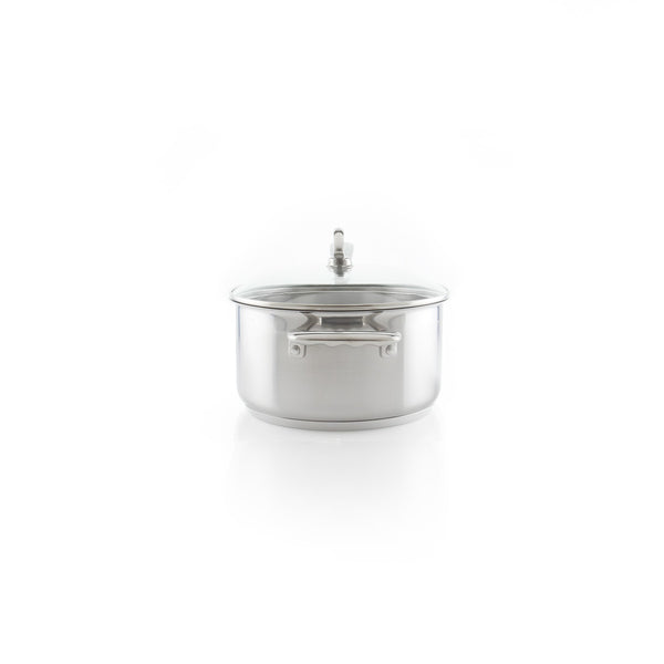 Induction 21 Steel Saucepan with Lid (3.5 Qt.)