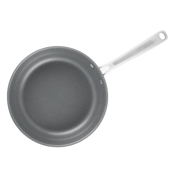 3.clad fry pan tri-ply ceramic coated polished 10 inch