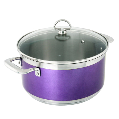 AllergenWare Casserole with lid, 6 quarts in purple