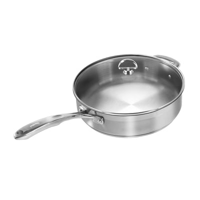 Induction 21 Steel Saute Skillet with Lid (5 Qt.)