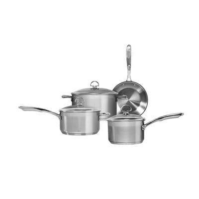 induction 21 steel 7 piece cookware set