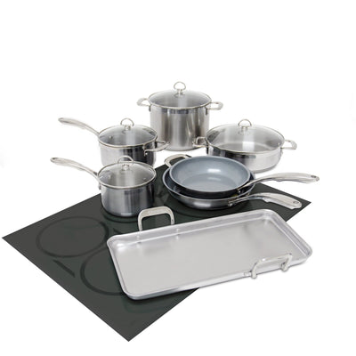 11 piece induction 21 steel ceramic coated set