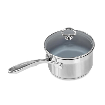 Induction 21 stainless steel 2 quart coated saucepan
