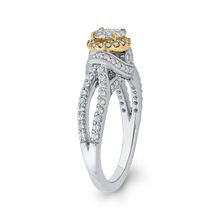 Load image into Gallery viewer, 10K Two Tone Gold 2/3 ct Round Diamond Fashion Ring