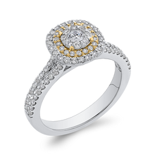Load image into Gallery viewer, 10K Two Tone Gold 5/8 ct Round Diamond Fashion Ring