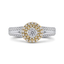 Load image into Gallery viewer, 14k white gold round diamond vintage wedding band