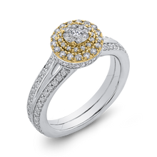 Load image into Gallery viewer, 10K Two Tone Gold 3/4 ct Round White Diamond Split Shank Fashion Ring