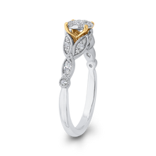 Load image into Gallery viewer, 1/2 ct Round Diamond 10K Two Tone Gold Fashion Ring
