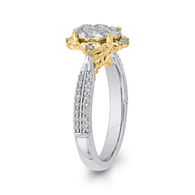 Load image into Gallery viewer, 3/4 ct Round Diamond 10K Two Tone Gold Fashion Ring