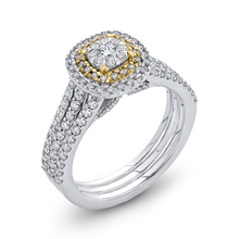 Load image into Gallery viewer, 10K Two Tone Gold 1 ct Round White Diamond Fashion Ring