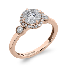 Load image into Gallery viewer, Round Diamond Halo Engagement Ring In 14K Two-Tone Gold