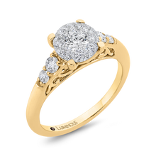 Load image into Gallery viewer, 14K Two-Tone Gold Round Diamond Engagement Ring